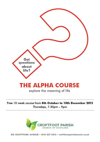 Croftfoot Parish Church Alpha Course 2015_1