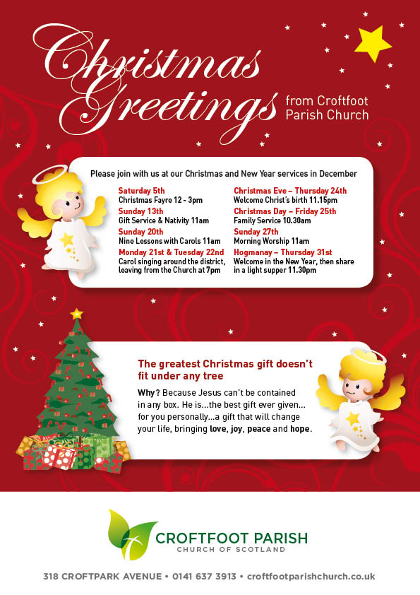 Croftfoot Parish Church Christmas Greetings